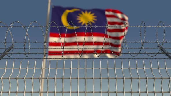 Thumbnail for Barbed Wire Against Waving Flag of Malaysia
