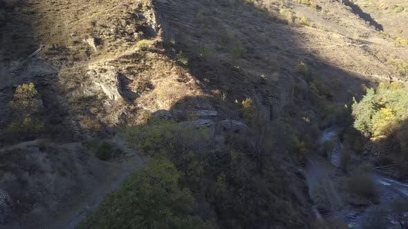 Thumbnail for Aerial view of Anatori's crypt in Khevsureti, Georgia