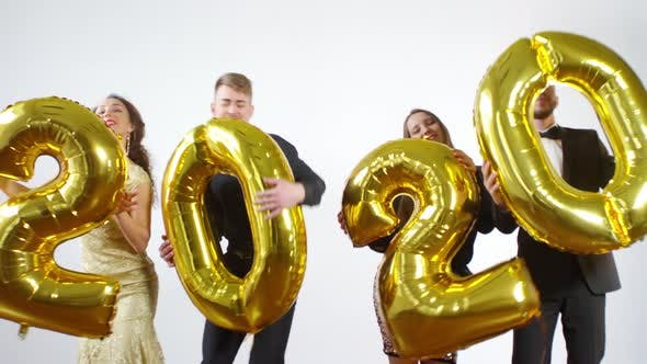 Thumbnail for Happy People Dancing with 2020 Balloons