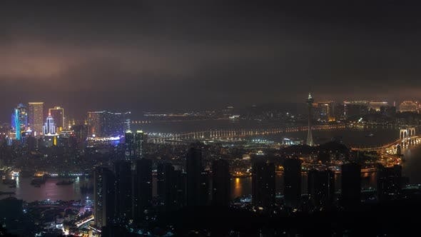 Thumbnail for Buildings of Macau with Chinese Advertisement Timelapse