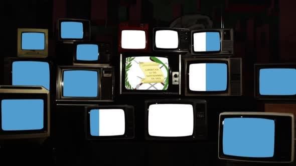 Thumbnail for Flag of Guatemala on Retro TV Screens.