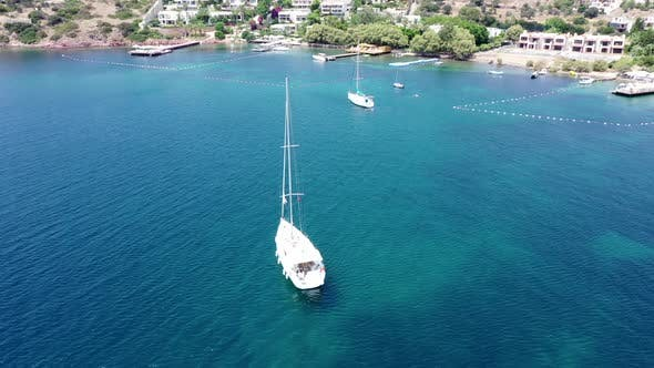 Thumbnail for Aerial view of Sailboat