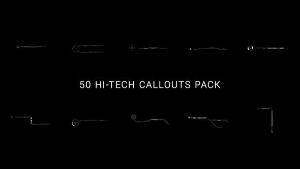 Thumbnail for 50 Hi-Tech Callouts Pack