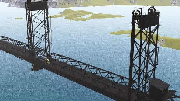 Thumbnail for Freight Truck Crossing the Bridge