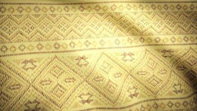 Yellow waving fabric