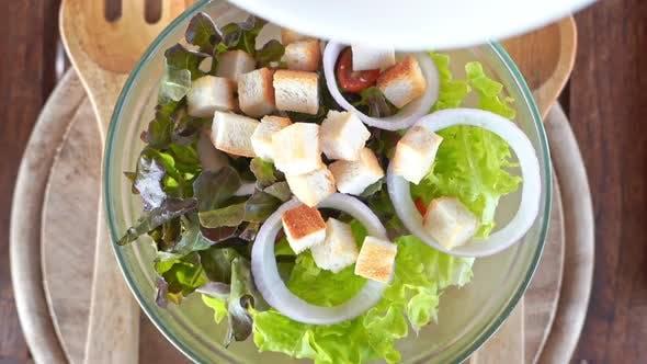 Caesar salad healthy food