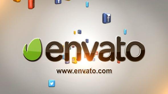 Thumbnail for Social Media Logo Reveal - Stereoscopic 3D