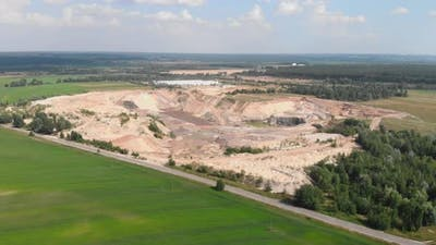 Large clay sand quarry