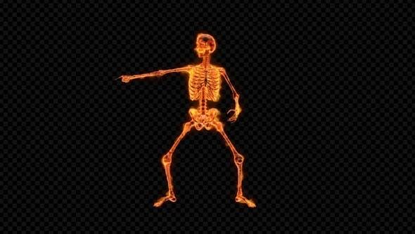 Joke Dance de squelette ardente
