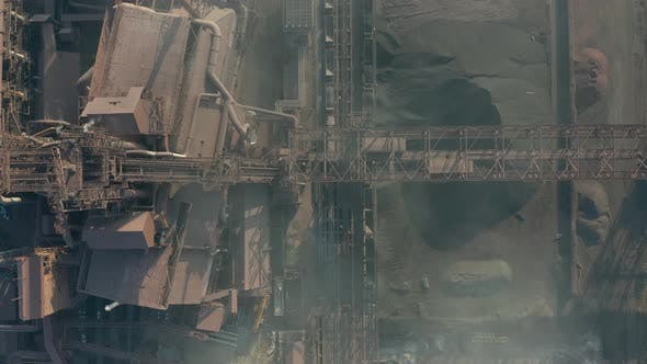 Thumbnail for Aerial View. The Metallurgical Plant. Plant for Metal Fabrication