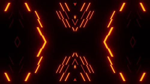 Vj Loop Blinking Orange X Waves For Party Or Disco Rave Performance Background HD