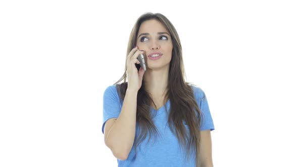 Thumbnail for Beautiful Brunette Woman Talking on Smartphone
