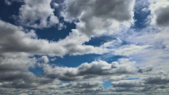 Cumulus Cloudscape Blue Sky and White Cloud Sunny Day.