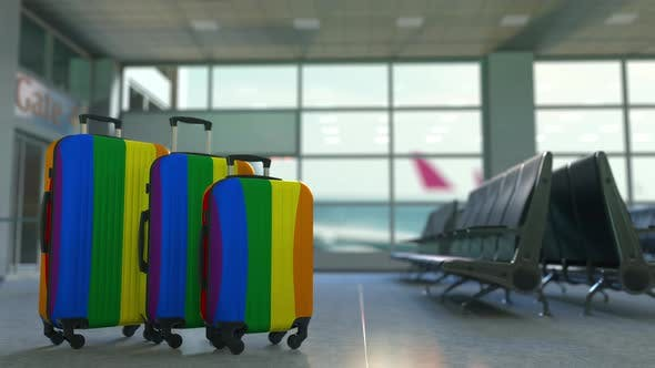 Thumbnail for Travel Suitcases with Gay Pride Flag
