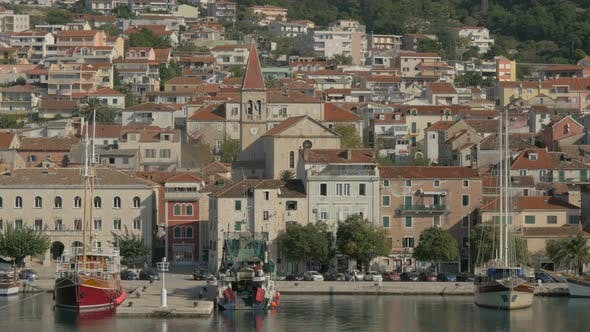 Thumbnail for Seaport and buildings in Makarska