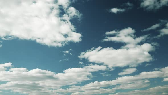 Cloudy Sky With Fluffy Clouds. Natural Background