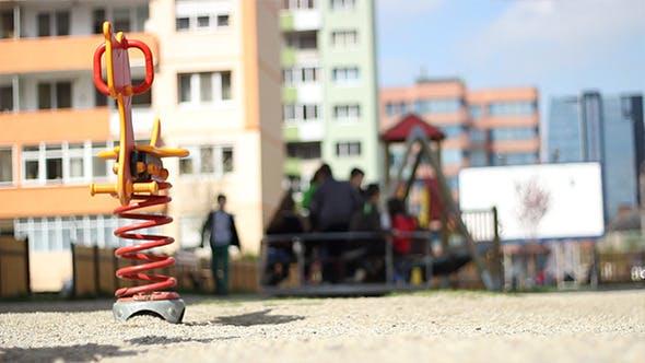 Playground Between Blocks
