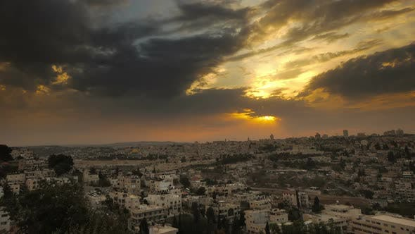 Thumbnail for Sunset time-lapse from the BYU Jerusalem center