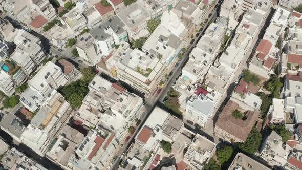 Thumbnail for Overhead Top Down Birds View of Athens, Greece City Streets at Daylight