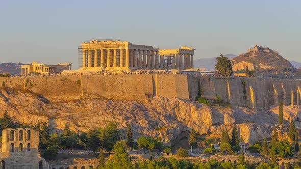 Cloudless Evening over the Parthenon