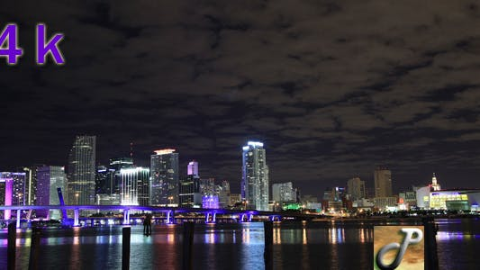 Cover Image for Miami Downtown At Night