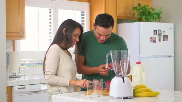 Thumbnail for Mexican couple making a smoothie