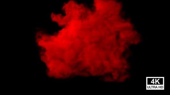 Thumbnail for Huge Red Color Smoke 4K
