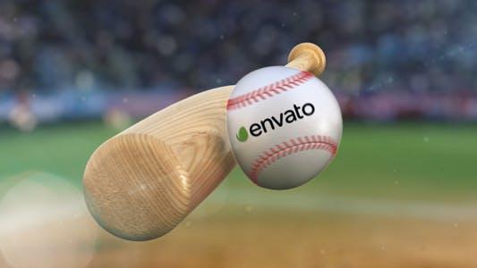 Thumbnail for Baseball Hit Logo