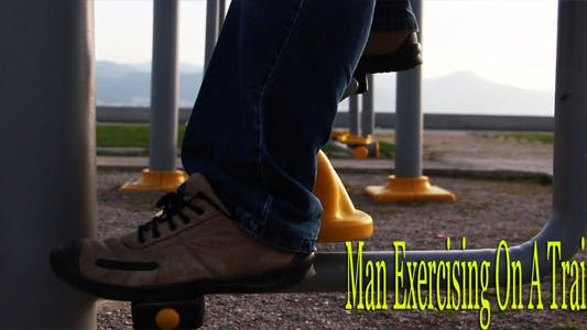 Thumbnail for Man Exercising On A Trainer