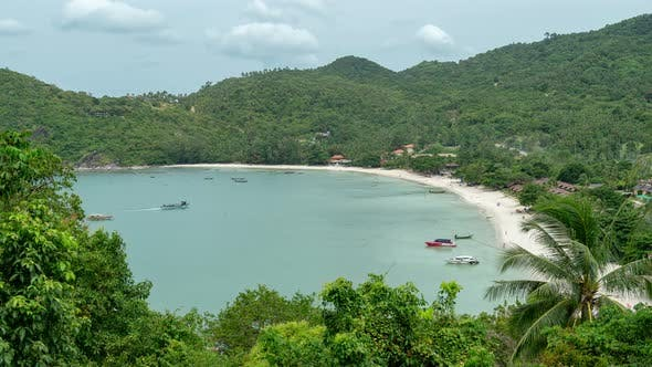 Thumbnail for Viewpoint between Thong Nai Pan Noi and Thong Nai Pan Yai beaches, Koh Phangan, Thailand