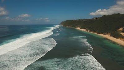 Aerial View Beautiful Beach. Bali,Indonesia