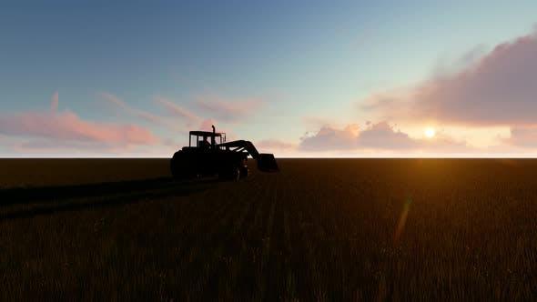 Empty Field Tractor