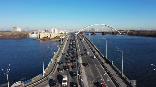 City Traffic on the Bridge