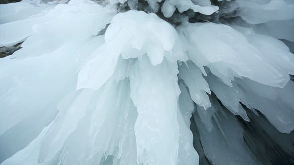 Panorama of Hanging Icicle