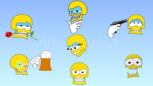 Thumbnail for Skull emoticons
