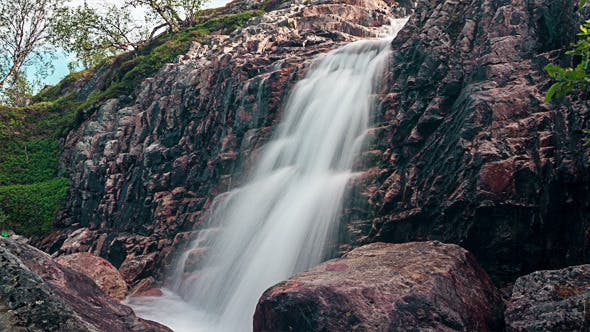 Thumbnail for Waterfalls in the Mountains Norway