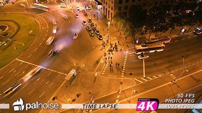 Barcelona Pedestrian Crosswalk