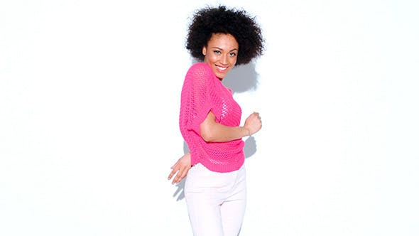 Thumbnail for Glamorous Happy African American Woman Dancing