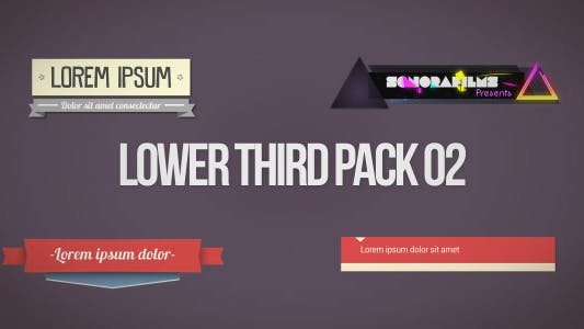 Thumbnail for Lower Third Pack 2