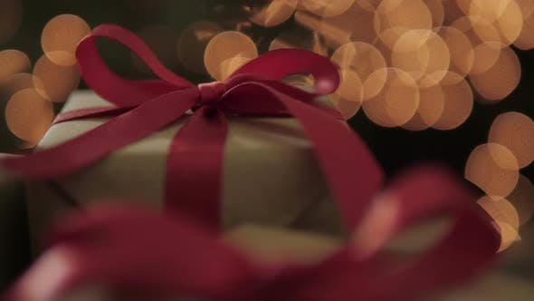 Gift Boxes With Bokeh