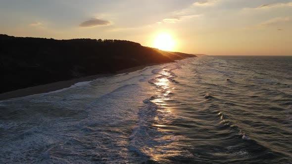 Sunset Sea Waves