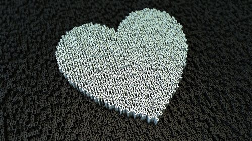 Heart Made With Digits 7