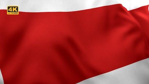 Ras al Khaimah and Sharjah City Flag - 4K