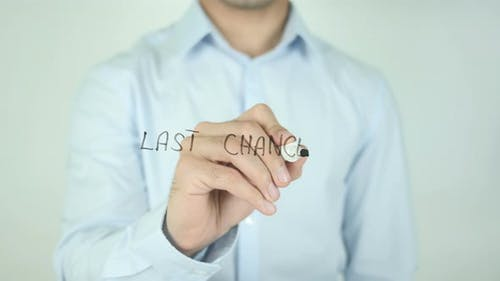 Last Chance, Writing On Screen