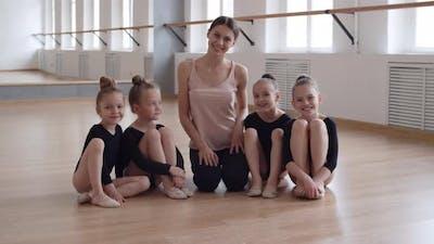 Teacher with Little Ballerinas
