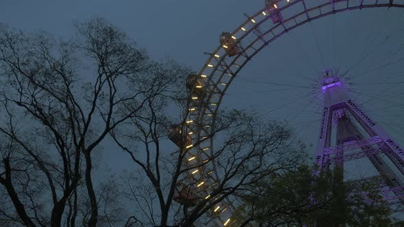 Thumbnail for View of the Ferris Wheel From the Ground, Vienna, Austria