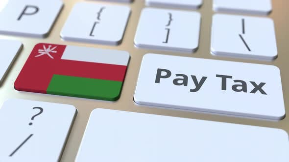 Thumbnail for PAY TAX Text and Flag of Oman on the Computer Keyboard