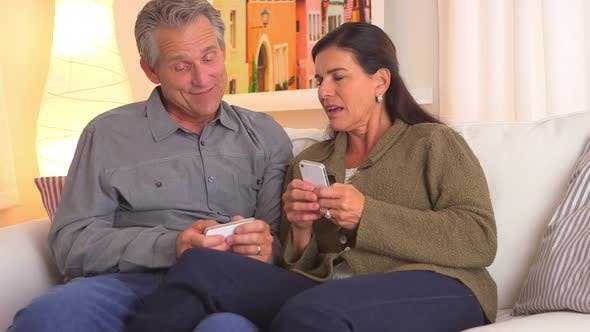 Thumbnail for Mature couple texting