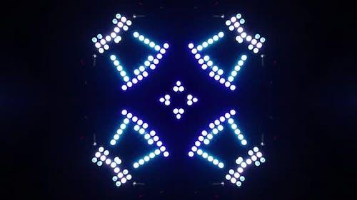LED Shapes Kaleida Background