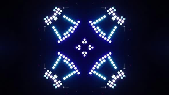 Thumbnail for LED Shapes Kaleida Background